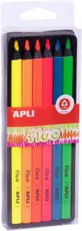 Набор карандашей Apli Kids Fluo Флуоресцентных 6 цветов (18060) (8410782180609)