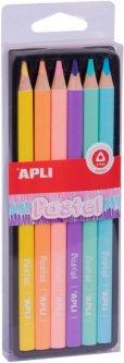 Набор карандашей Apli Kids Pastel Jumbo Пастель 6 цветов (18059) (8410782180593)
