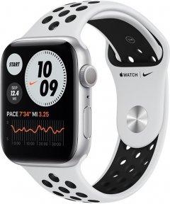 Смарт-часы Apple Watch Series 6 Nike GPS 44mm Silver Aluminum Case with Pure Platinum/Black Nike Sport Band (MG293UL/A)