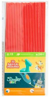 Набор стержней для 3D-ручки 3Doodler Start Красный 24 шт (3DS-ECO03-RED-24)