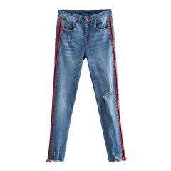 Джинси жіночі slim fit з лампасами Stripes Berni Fashion (S) Синій (55804)