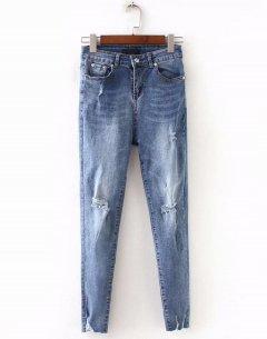 Джинси жіночі slim fit з вишивкою на кишені Modern Berni Fashion (S) Синій (55809)