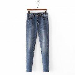 Джинси жіночі skinny з потертостями Nifty Berni Fashion (44) Синій (55808)