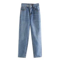 Джинси жіночі mom джинси з потертостями Sky Berni Fashion (L) Синій (55845)