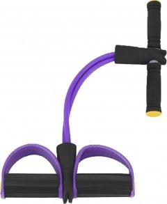 Эспандер Reystyle для мышц ног, рук и груди Фиолетовый (2000992401142)
