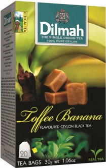 Чай черный пакетированный Dilmah Ириска и банан 1.5 г х 20 шт (9312631142235)