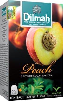 Чай черный пакетированный Dilmah Персик 1.5 г х 20 шт (9312631142259)
