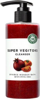 Пенка-детокс для умывания Wonder Bath Super Vegitoks Cleanser Red Осветляющая для жирной кожи 2 в 1 200 мл (8809499084582)