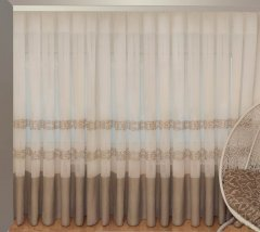 Тюль Декор-Ин Барселона Бежево-кремовый с вышивкой на льне 285х600 (Vi 100039) (ROZ6400050234)