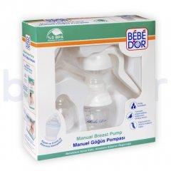 Ручний механічний молоковідсмоктувач Bebedor білий (8677)