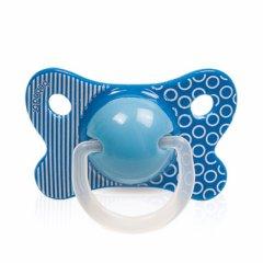 Пустушка Bebedor з симметрическим соском Ретро стиль з 6 місяців синя 143