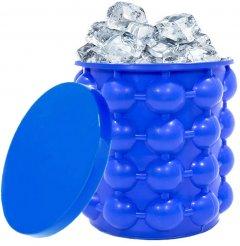 Форма для льда Ice Cube Maker Genie ведро для заморозки льда силиконовое Синее (2000992401081)