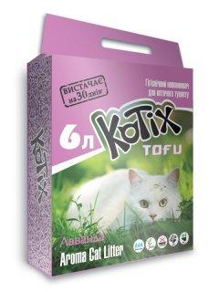 Наполнитель для кошачьего туалета Kotix Тофу Lavender Соевый комкующий 2.55 кг (6 л) (6972345440053)