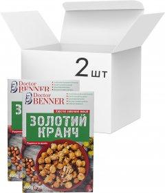 Упаковка золотых кранчей Doctor Benner Изюм и арахис 400 г х 2 шт (23029800187)