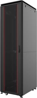 """Шкаф напольный Mirsan GTV 19"""" 42U 600x600, RAL 9005 Черный (MR.GTV42U66DE.01)"""