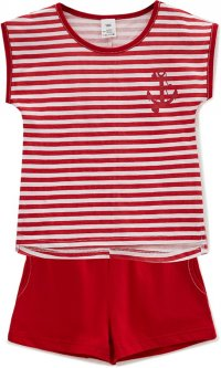 Комплект (футболка + шорты) ROZA 180838 122 см Белый (4824005240522)