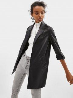 Куртка из искусственной кожи Bershka 1442-602-800 M Черная (01442602800036)