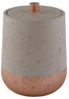 Ёмкость для ванной комнаты AXENTIA Concrete 14.5x10 см универсальная Grey 131119