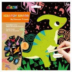 Набор для творчества скретч-арт Avenir Динозавры 8 раскрасок (CH1675)