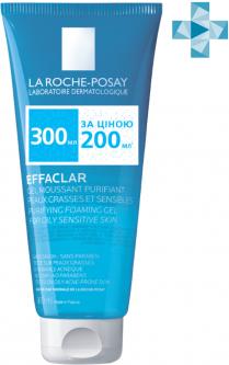 Гель-мусс La Roche-Posay Effaclar для очищения жирной проблемной кожи лица 300 мл (3337875549486)