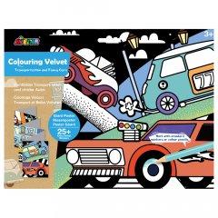 Набор для рисования Avenir гигантская вельвет-раскраска Транспорт и автомобиль (CH191693)