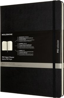Планировщик проектов Moleskine PRO 19 х 25 см 288 страниц Чёрный (8056420851373)