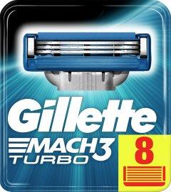 Сменные картриджи для бритья (лезвия) мужские Gillette Mach3 Turbo 8 шт (3014260331320)