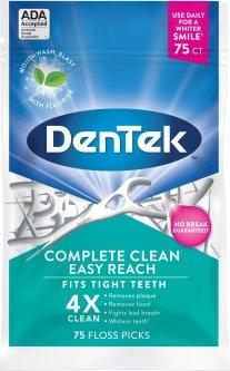 Флосс-зубочистки Комплексное очищение Задние зубы DenTek 75 шт (47701002155)