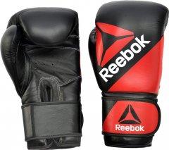 Боксерские перчатки Reebok Combat Leather 12 унций Красно-черные (RSCB-10110RD-12)