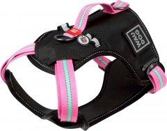 Шлея для собак безопасная Collar WAUDOG Nylon c QR паспортом, металлическая пряжка-фастекс, L, Ш 25 мм, А 55-85 см, В 65-85 см (52507)