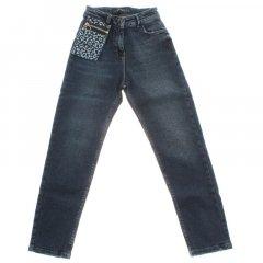 Штани джинсові для дівчинки A-YUGI 9181 140 см синій (173339)