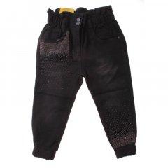 Штани джинсові для дівчинки SERCINO 57373 128 см чорний (421119)