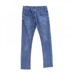 Штани джинсові для дівчинки SERCINO 59783 128 см синій (172857)