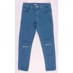 Штани джинсові для дівчинки BREEZE OZ·18807 134 см блакитний (172788)
