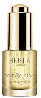 Лифтинг масло для лица Herla 24к Золото омолаживающее сухое 15 мл (5902983700852)