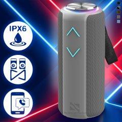 Музична колонка Hopestar P30 pro портативна бездротова Bluetooth - Переносна блютуз акустична USB система –TWS + водонепроникний корпус з потужним акумулятором для вулиці і вдома, Grey