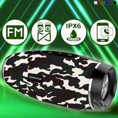 Портативна колонка Hopestar H27 блютуз акустична із гучномовцем Bluetooth - Портативна вологозахищена система - голосні і чисті баси - вбудований мікрофон - потужний акумулятор (Camouflage)