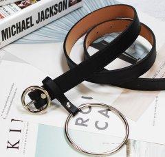 Ремень Пояс City-A Belt 105 см PU Кожа с подвеской Кольцом пряжка Кольцо Черный