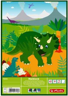 Альбом для рисования Herlitz Dino Динозавр A3 30 листов (471300D)
