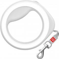 Поводок-рулетка для собак Collar WAUDOG R-leash, круглая, XS-M, до 40 кг, 2,9 м, светоотражающая лента (812715)