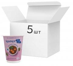 Упаковка каши гречневой Bonner классической с овощами 60 г х 5 шт (3000030030142)