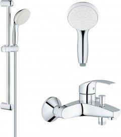 Смеситель для ванны GROHE Eurosmart 33300002 c душевым гарнитуром New Tempesta 27853001