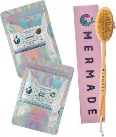 Набор Mermade Щетка для сухого массажа + Скрабы для тела Coco Jambo и Espresso 100 г (2000000223339)