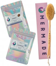 Набор Mermade Щетка для сухого массажа + Скрабы для тела Magnesium и Espresso 100 г (2000000223346)