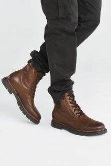 Шкіряні коричневі черевики Aeronautica Militare 3713 45