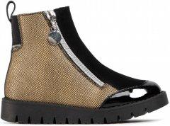 Ботинки кожаные Bartek W-4443-9ABP 29 Золотистые с черным (5903607466703)
