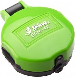 Карманная оснастка для печати d 42 мм Shiny El-42 cо сменной подушкой корпус зеленого цвета (4710850094246)