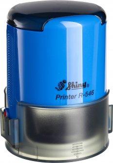 Оснастка для круглой печати d 46 мм Shiny R-546 синий корпус с крышкой (4710850546332)