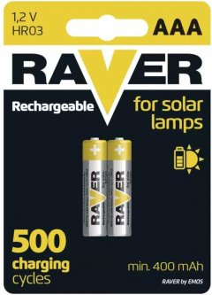 Аккумулятор Raver by Emos B7414 AАA 400 мАч BLI 2 Ni-MH (B7414)