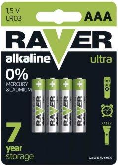 Батарейка Raver by Emos B7911 AAA Alkaline BLI 4 шт (B7911)